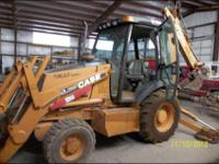 2001 CASE Backhoe, 3970 hours, turbo, closed cab with