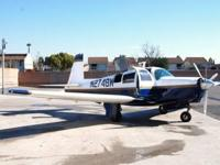 1966 Mooney M20C. 180hp (3-bladed), 100 SMOH, 5160