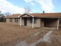 Good 3 BD 1.5 BA brick home situated on 1.50 acres in