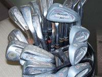 47 assorted golf clubs including; Wilson Top-Notch, 2,