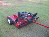 2007 47 in 12.5 hp pule behind mower mowes grass trails