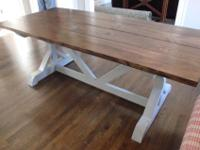Do you long for a rustic farm table but don't want to