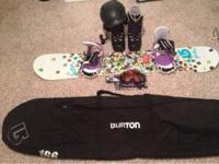 I am selling my womens 153cm burton feather snowboard