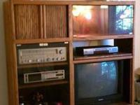 Oak Wood Entertainment Center, in very good shape Real
