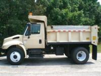 2003 I-H 4400 single axle dump truck. Mileage is
