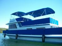 This is a 42' Gibson Houseboat that has completely been