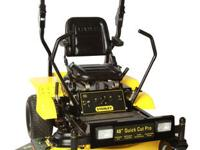 The Stanley 48? Zero Turn Heavy Duty Mower is for the