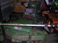 "48"" John Deere 7h17 hydro walkbehind mower has a 17"