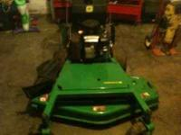 mower like new,bought as back up for zero turn,used