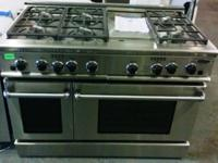 "New 48"" Pro Style Gas Range W/ 6 Burners & & Griddle"