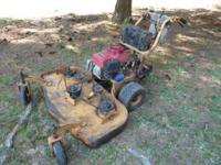 "I have two scag lawn mowers. Both 48"" One Honda, one"