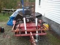 "48"" ex mark commercial mower 4x8 tail gate trailer push"