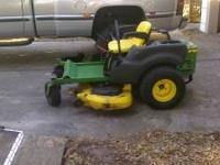 "2007 48"" John Deere z425. 23 hp Briggs motor with only"