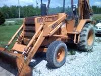 urley 80s 408 d case backhoe runs and works good olde