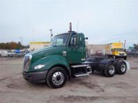 2008 I-H Pro Star tandem axle day cab tractor. Mileage