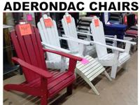 WE HAVE SEVERAL TYPES & & COLORS OF ADERONDAC FURNITURE