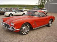 1962 Corvette with both tops. Runs and drives great.