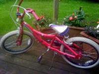 This is an adorable 20-inch Schwinn girl's bike in