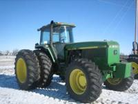 1992 John Deere 4960 MFWD High Hours with 3 year old