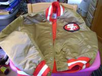 For Sale: A Large 49er's starter Jacket Red & Gold