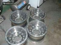 I am selling 4 aluminum Weld Racing Truck rims. They