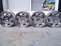 "Set of 22"" venti rims, 1 is missing the center-cap but"