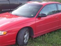 2002 Monte Carlo SS - Red, 143k miles, engine has only