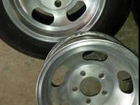 14 INCH ALUMINUM SLOTS - 2 are GM 4 3/4 bolt pattern