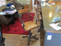 Metal and leather bar stools, paid $1436 in 2005