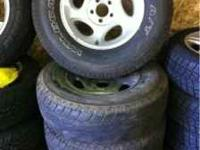 Ford Explorer alloy wheels with shot tires. these would