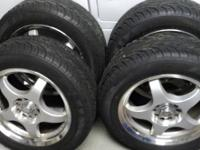 4 TIRES ON CHROME VISION RIMS. $2,000 value ***great
