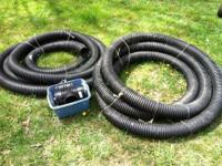 Here are a couple of rolls of drain hose. It is about