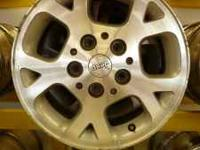 4 jeep oem wheels 16x7 wheels. in good shape. $300.