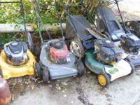 I have Four Lawn Mowers for sale. Three High Wheel, two