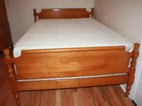 High quality American made solid maple bedroom set