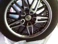 4 rims and low profile tires for sale. Tires only used