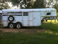 4 slant goose neck horse trailer, new tires, floor, and