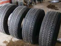 Set of 4 Tires 265/70R16 Mastercraft Courser AWT. Will