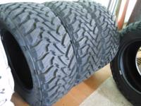 (4) Toyo 35x12.50 R20 Open Country M/T Tires. Almost