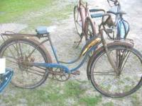 We have 4 Vintage bicycles, 3 Schwinn and 1 old Sears