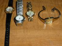 I have 4 used women's watches. All 4 are in good