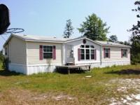 4BD, 2BA, Home (28 x 60, 1680 sq ft) on 1.43 acres in
