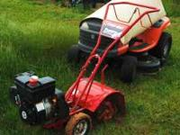 Four horsepower rototiller in excellent condition. 475