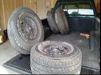 This is a set of 4 tires and rims. The tires are