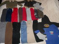 Used 4T Boys Clothes-( the black batman hoody emblem is