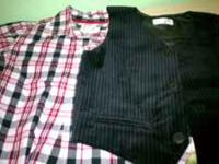 BRAND NEW CHILDRENS PLACE VEST AND LONG SLEEVED SHIRT
