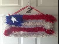 Brand new, handmade 4th of july flag wreath made of