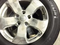 MICHELIN TIRES IN GOOD CONDITION WITH ALLOY WHEELS