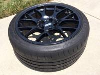 For sale 4 black BBS CH-R wheels with Michelin Pilot