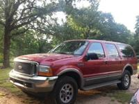 We are selling our 2000 Ford Excursion Limited 4 door.